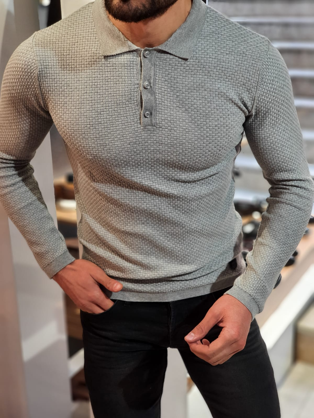 Carlos Slim-Fit Polo Sweater