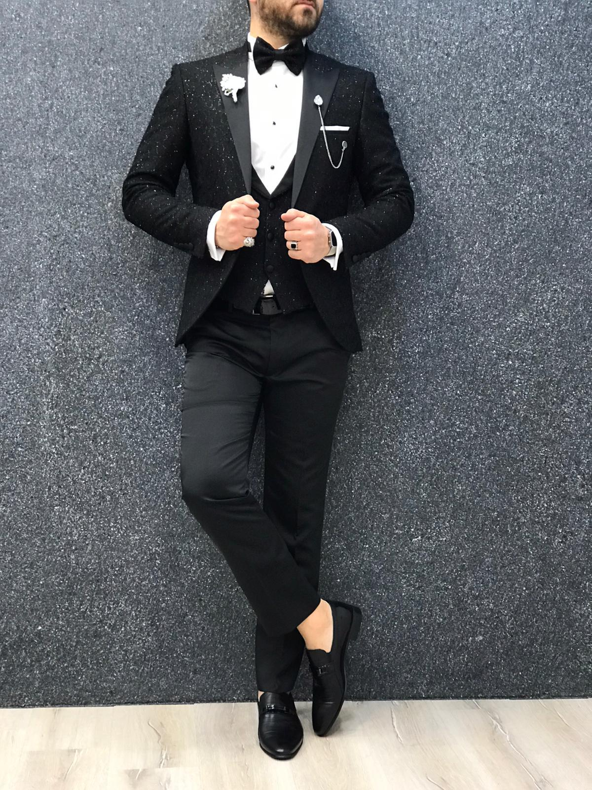 Zerno Brilliant Slim Fit Black Tuxedo