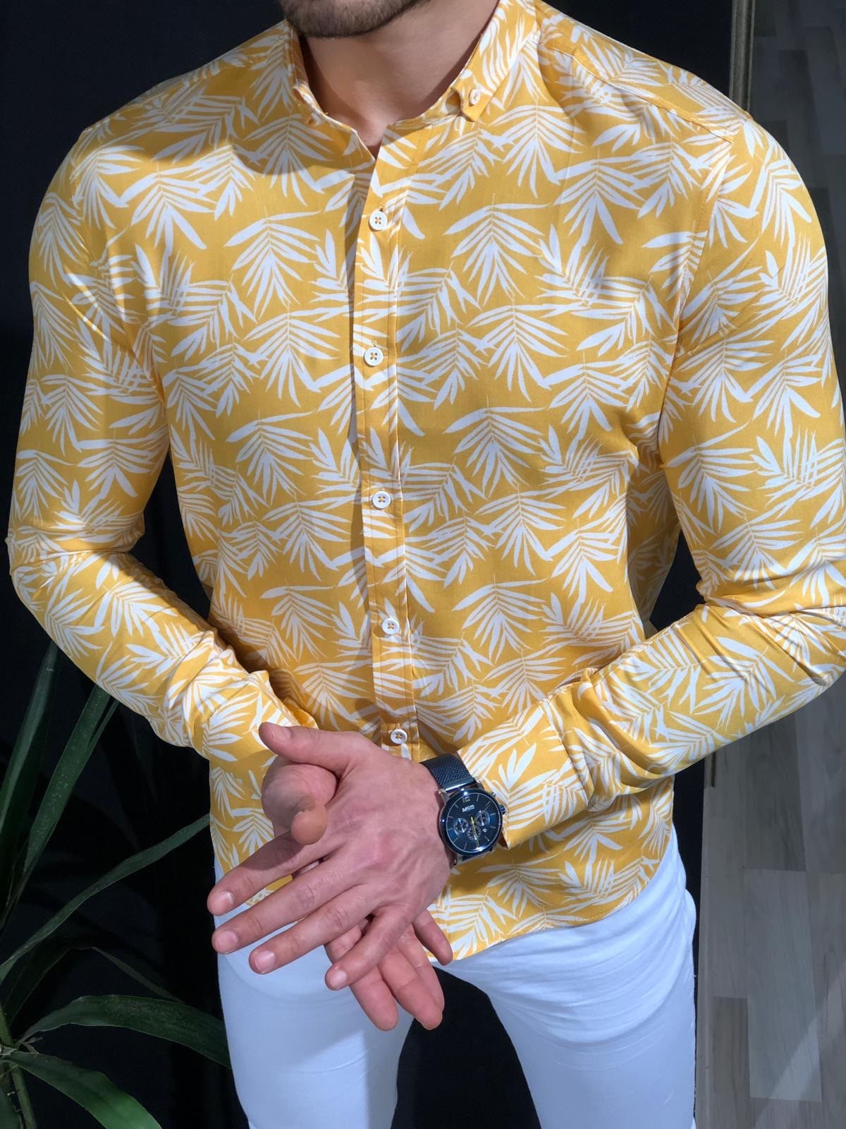 Klenoff Slim-Fit Patterned Shirt (3 Colors)