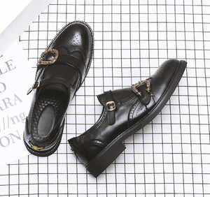 Cesar Leather Shoes in Black Color