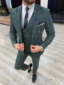 Zapali Royal Green Slim Fit  Suit