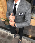Davis Gray Slim-Fit Suit