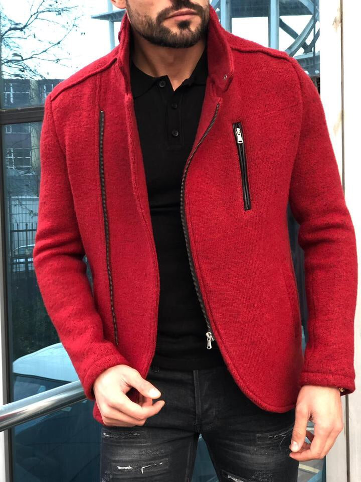 Bernard Wool Red Jacket