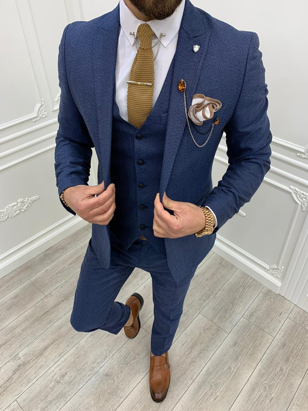 Casatani Blue Slim Fit  Suit