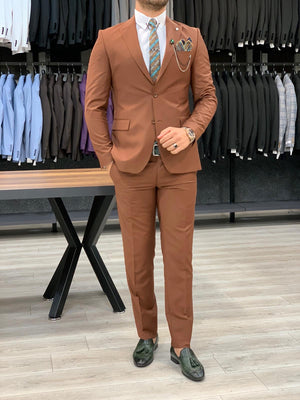 Verona Tile Slim Fit Wool Suit