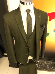 Slim-Fit Suit Vest Khaki