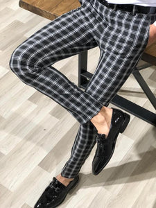 Ferrar Plaid Black Slim Pants