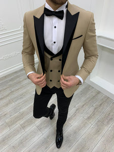 Partoni Royal Gold Slim Fit Tuxedo
