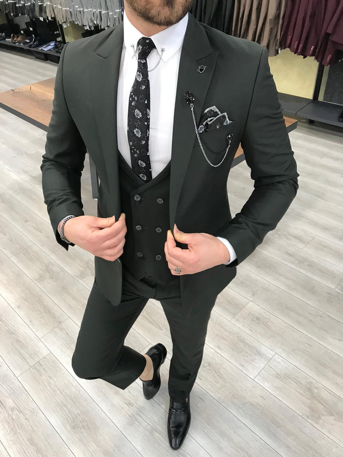 Louis Slim Fit Black Suit