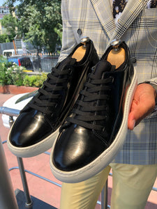 Bald Laced Patent  Shoes Black