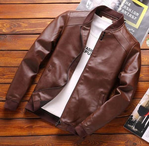Faux Leather Casual Jacket (2 Colors)