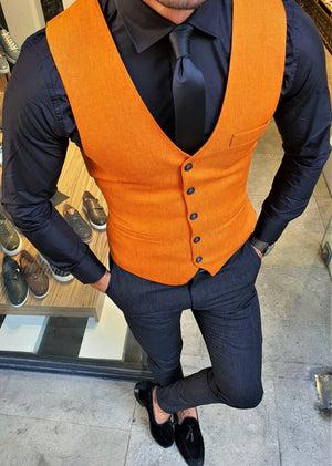 Ardenza Orange Slim Fit Vest