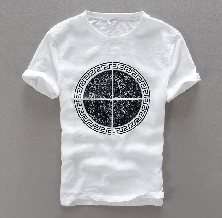 Contemporary Kingsman Style Linen T-Shirt