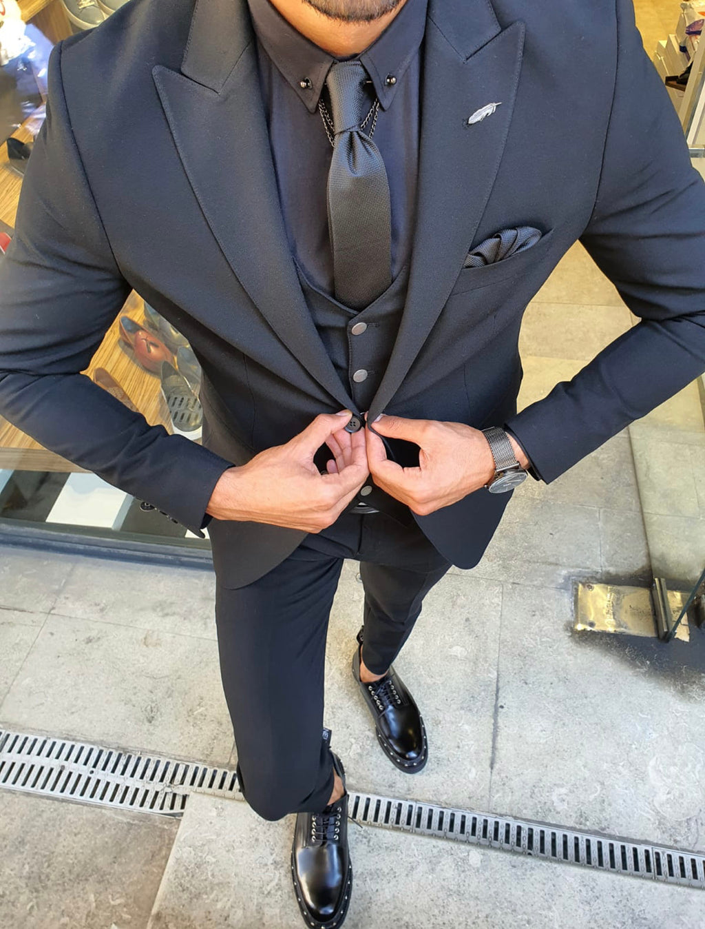 Henderson Black Slim Fit Suit