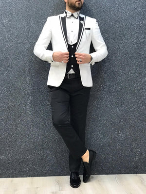 Lazio Slim Fit Brilliant White Tuxedo