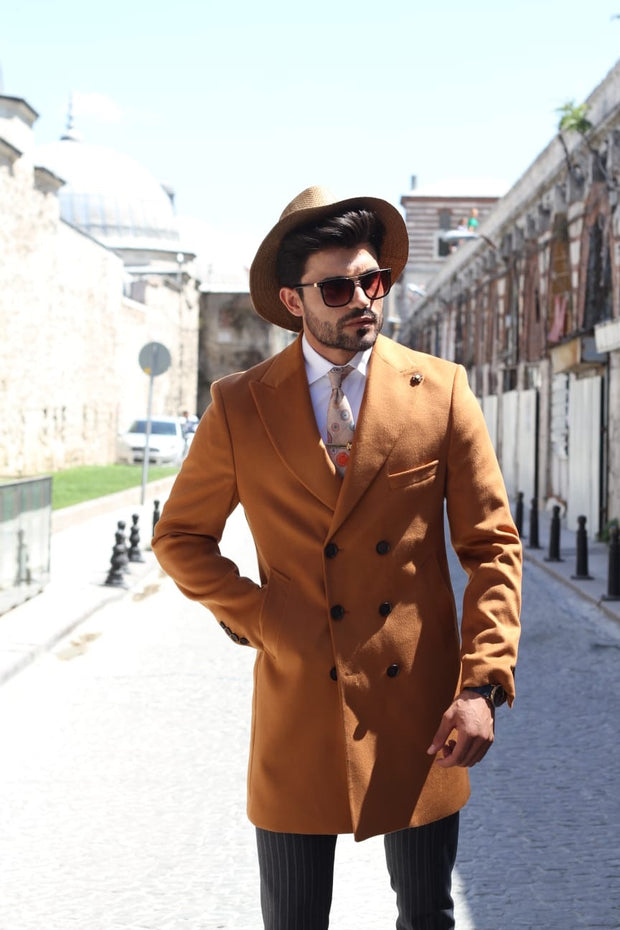 Capros Wool Coat in Camel Limited