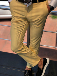 Gardi Slim-fit cotton pants YELLOW