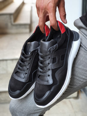 Henderson Black Mid-Top Sneakers