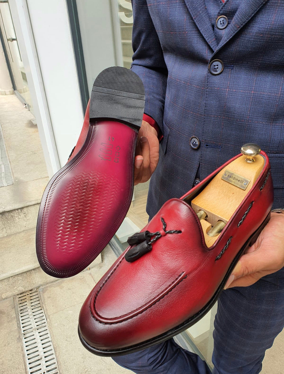 Fort Worth Red Tassel Loafer