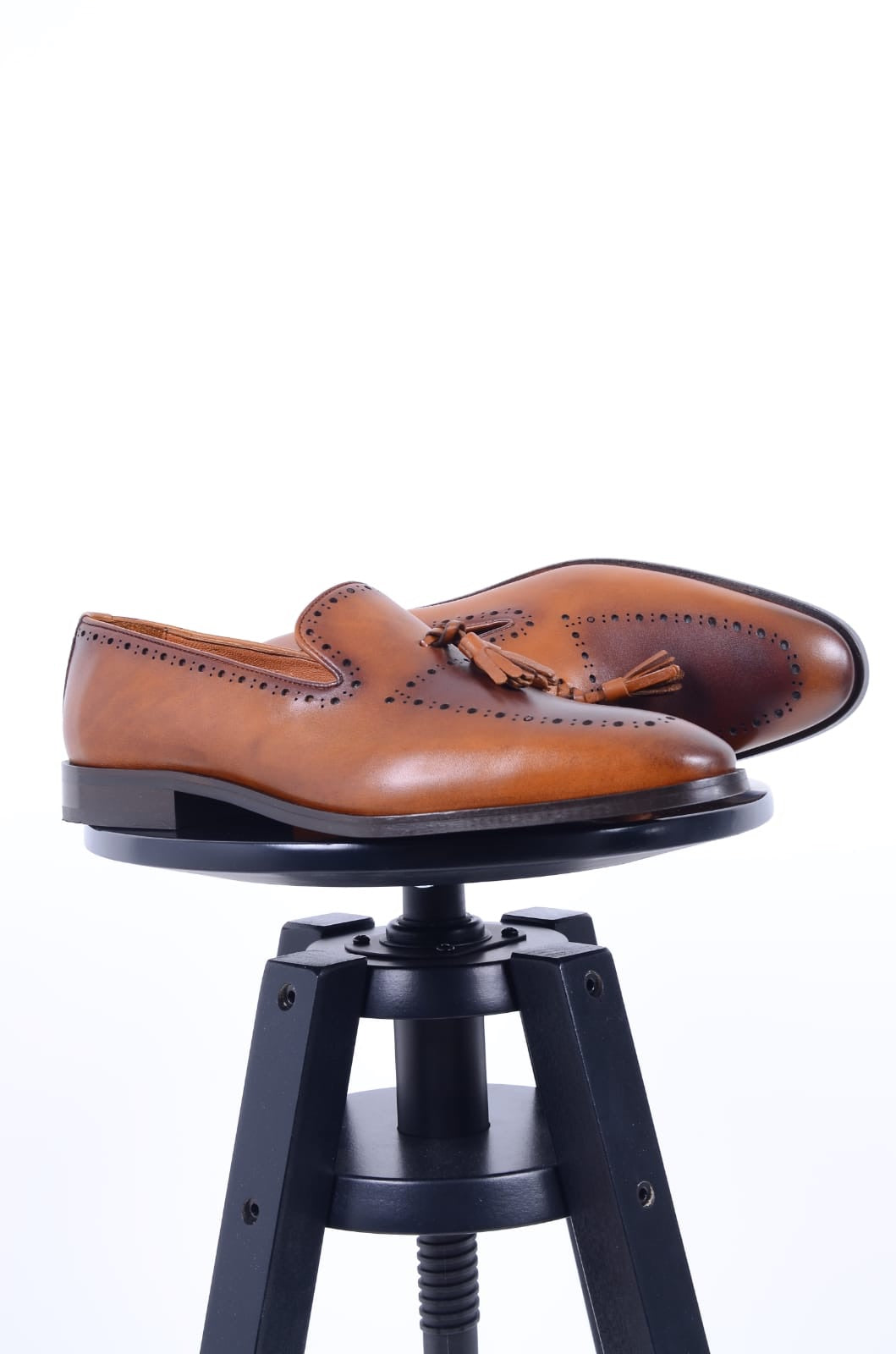 Calf-Leather Loafer Shoes (3 Colors)