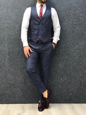 Olympia Navy Blue  Slim Fit  Suit