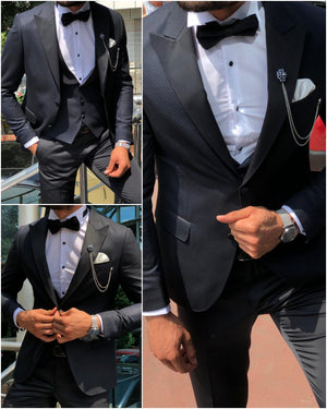 Cristian Slim-Fit Tuxedo Suit Vest Dark Blue