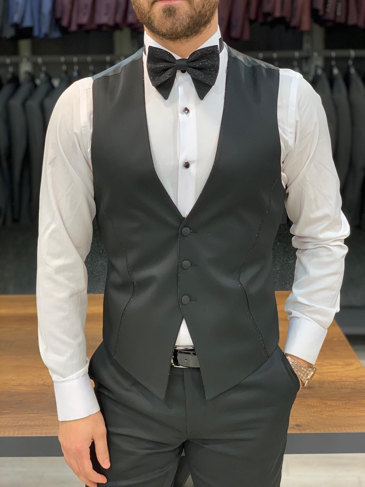 Catani Black Slim Fit Tuxedo #6