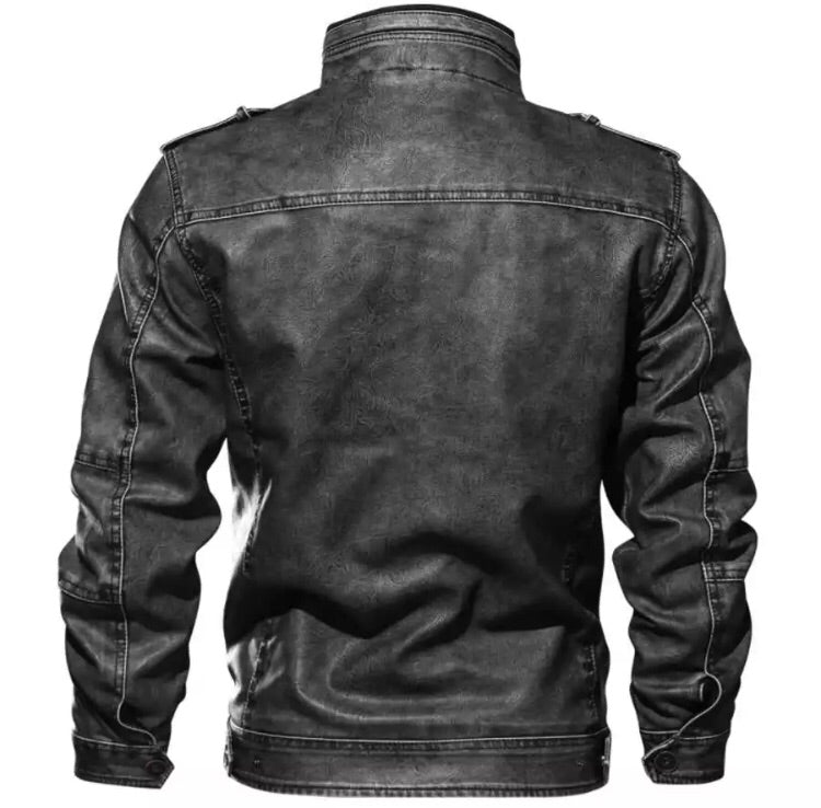 Bomber Faux Leather Jacket (3 Colors)