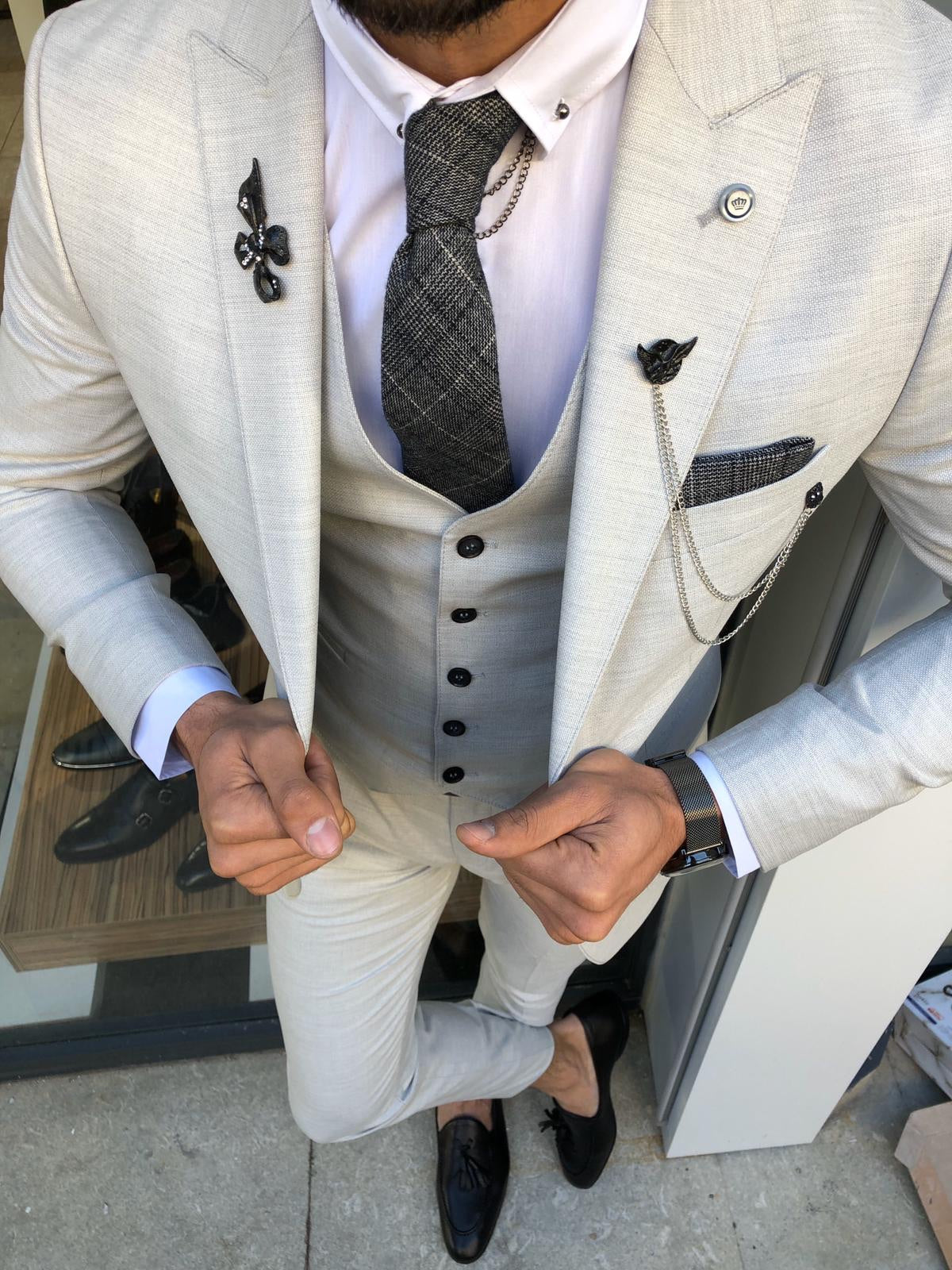 Marc Slim-Fit Suit Vest Gray