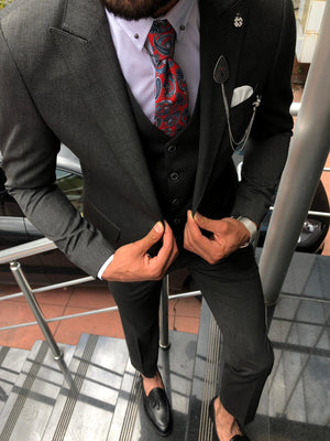 Pauli Slim-Fit  Suit Vest Black