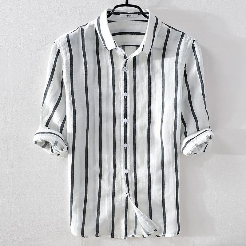 Barulo Stripes Linen Shirt (4 Colors)