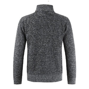 Slim fit stretch knit sweater (2 Colors)