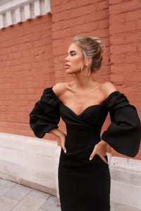 Off Shoulder Sheath Dress