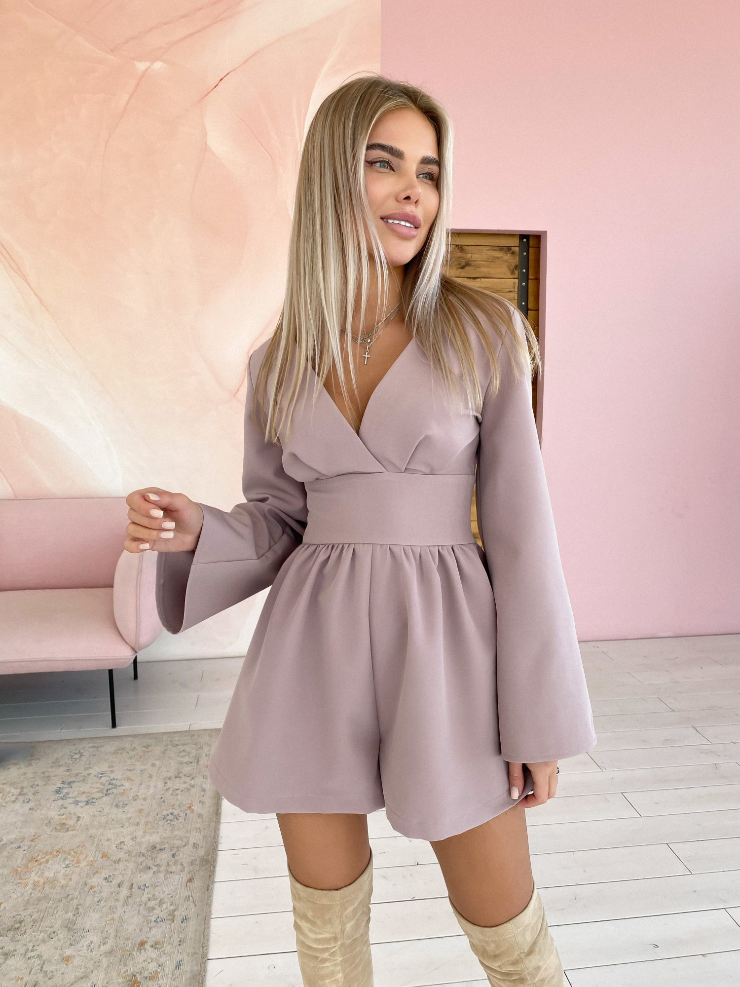 Playsuit with Wide Belt