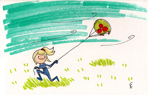 Zero Suit Samus Flies a Kite