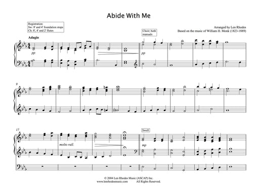Abide With Me - for Organ solo