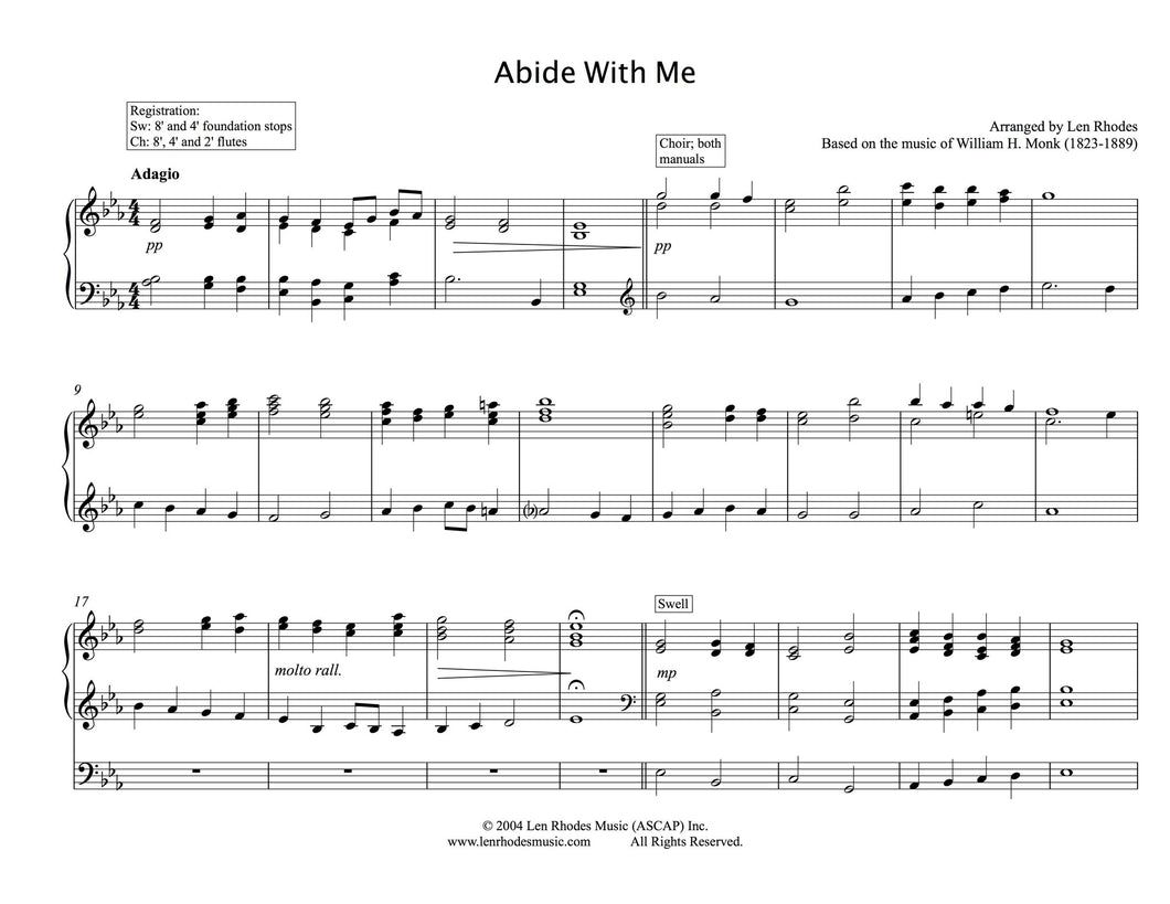 Abide With Me - transcribed for Organ solo