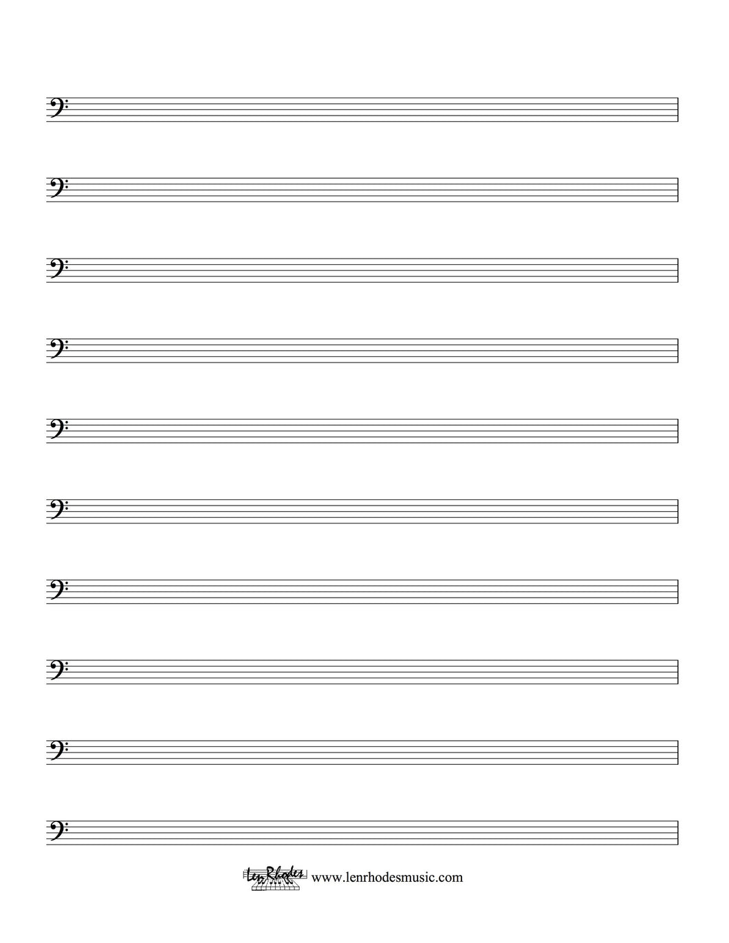 musical staff paper free