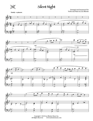 Christmas Music for Violin and Piano – Len Rhodes Music Inc