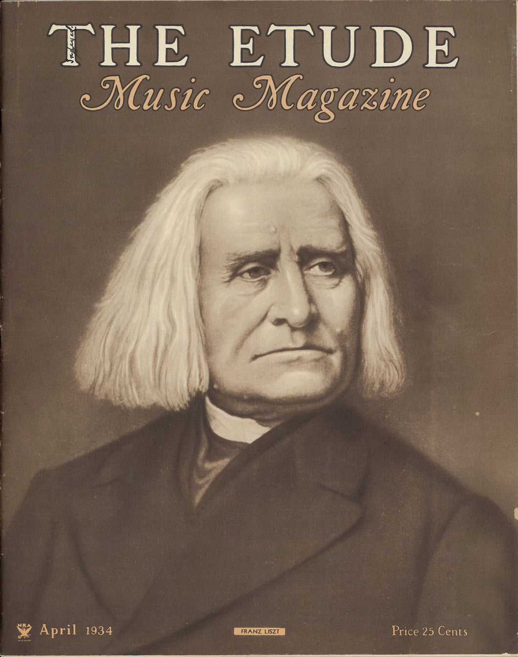 1934 April, The Etude Magazine - Franz Liszt
