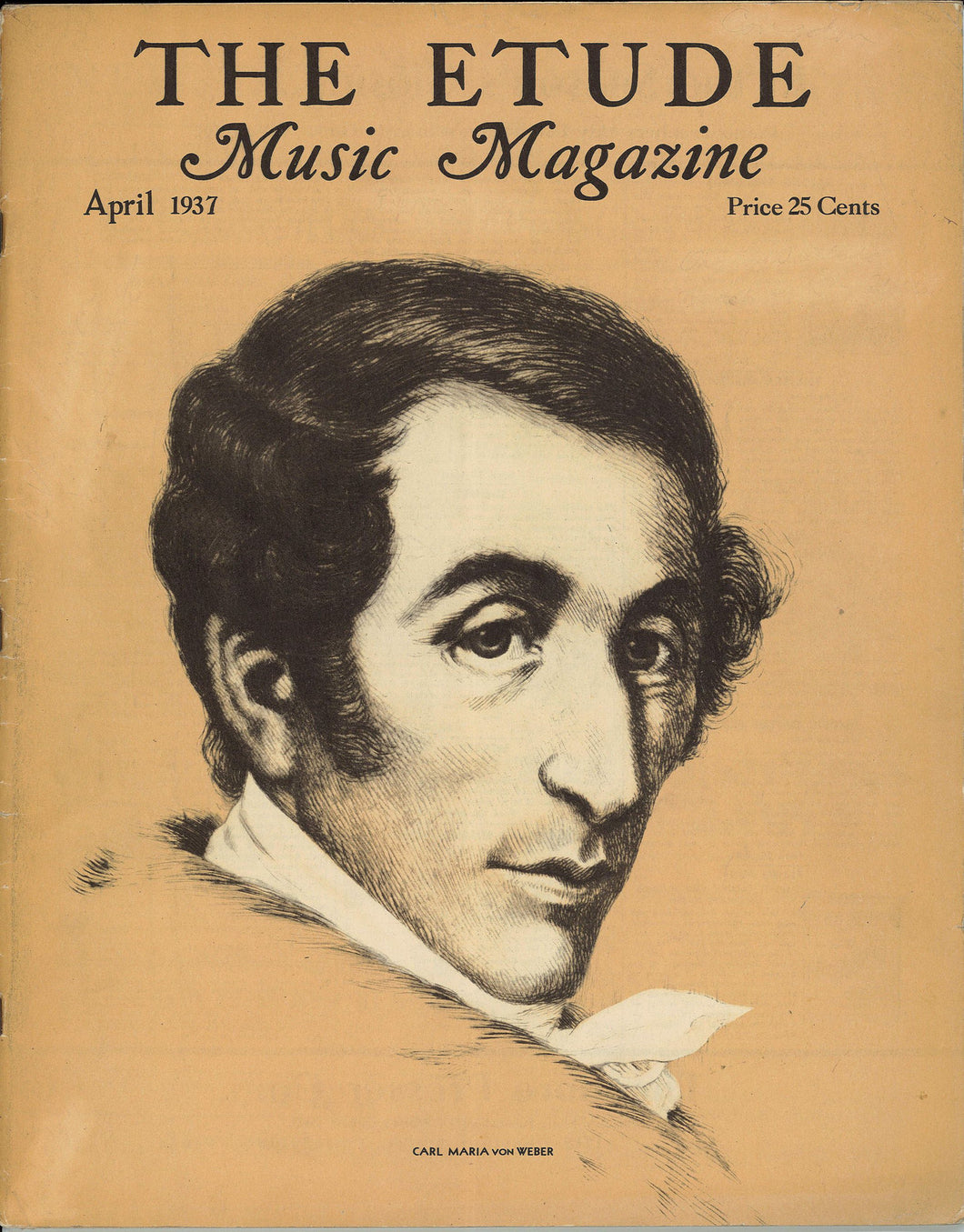 1937 April, The Etude Music Magazine - Carl Maria von Weber