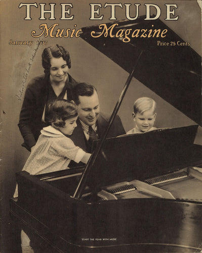 1937 January, The Etude Music Magazine - Start The Year With Music