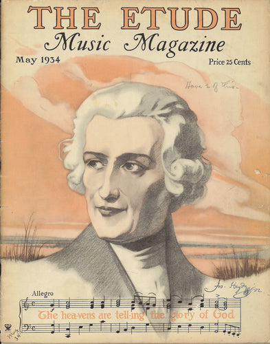 1934 May, The Etude Music Magazine - Joseph Haydn