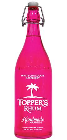 TOPPER'S RHUM WHITE CHOCOLATE RASPBERRY 1 Liter