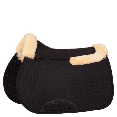 BR Saddle Pad with Spinal Clearance- Front & Rear Sheepskin Border - Horse & Hound Tack Shop & Pet Supply