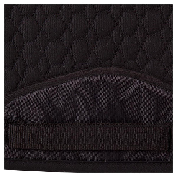 BR Dressage Saddle Pad with Spinal Clearance- Front & Rear Sheepskin Border - Horse & Hound Tack Shop & Pet Supply