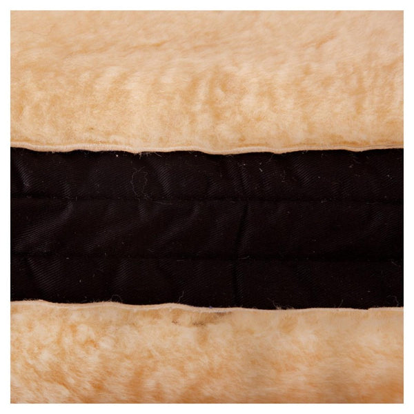 BR Saddle Pad with Spinal Clearance- Front Sheepskin Border - Horse & Hound Tack Shop & Pet Supply