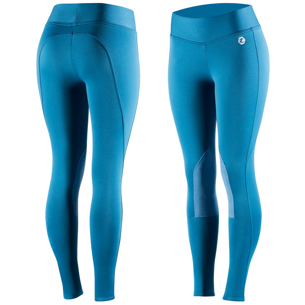 Horze Active Women's Knee Patch Winter Tights - Horse & Hound Tack Shop & Pet Supply