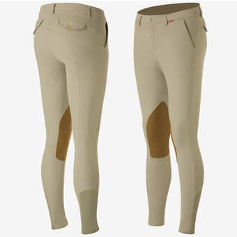 B Vertigo Sander Men's Leather Knee-Patch Breeches - Horse & Hound Tack Shop & Pet Supply