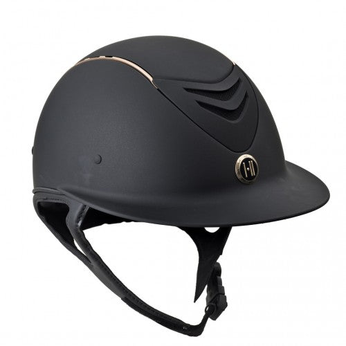 One K™ Defender AVANCE Rose Gold Stripe Helmet with Wide Brim - Horse & Hound Tack Shop & Pet Supply
